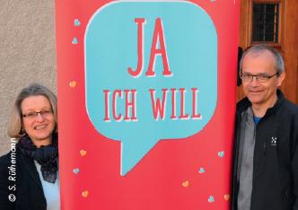 Madeleine Winterhalter und Matthias Koller Filliger vom Projekt «quot;Ja, ich will»