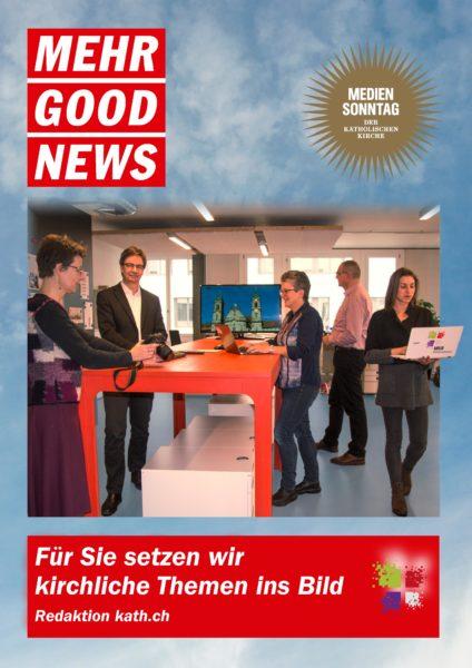 Newsroom des Katholischen Medienzentrums Zürich, Plakat zum Mediensonntag 2017 | © kath.ch/Hans Merrouche