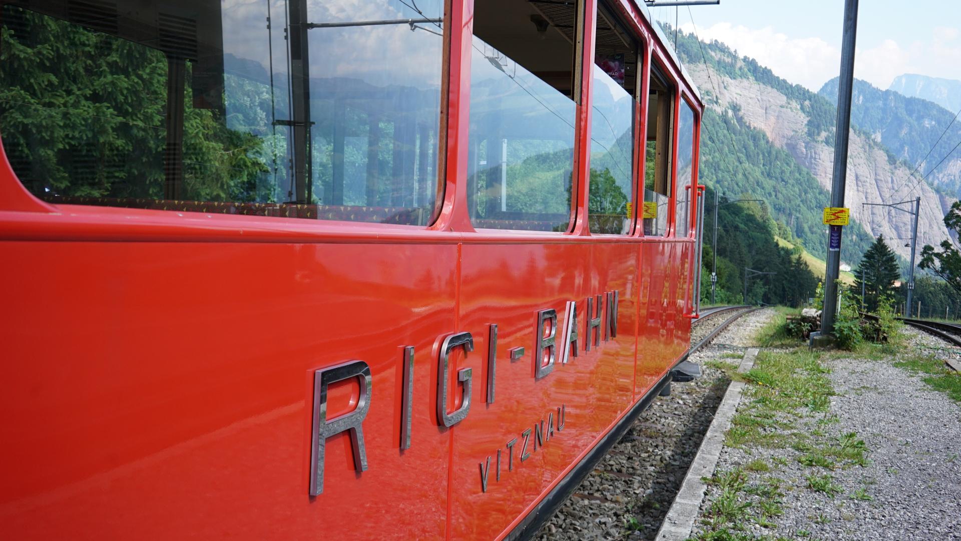 Rigibahn an der Station Romiti