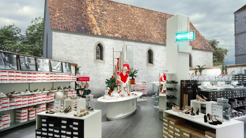 Die Stephanskirche stünde heute im Coop St. Annahof, Zürich. | © Amt für Städtebau Zürich