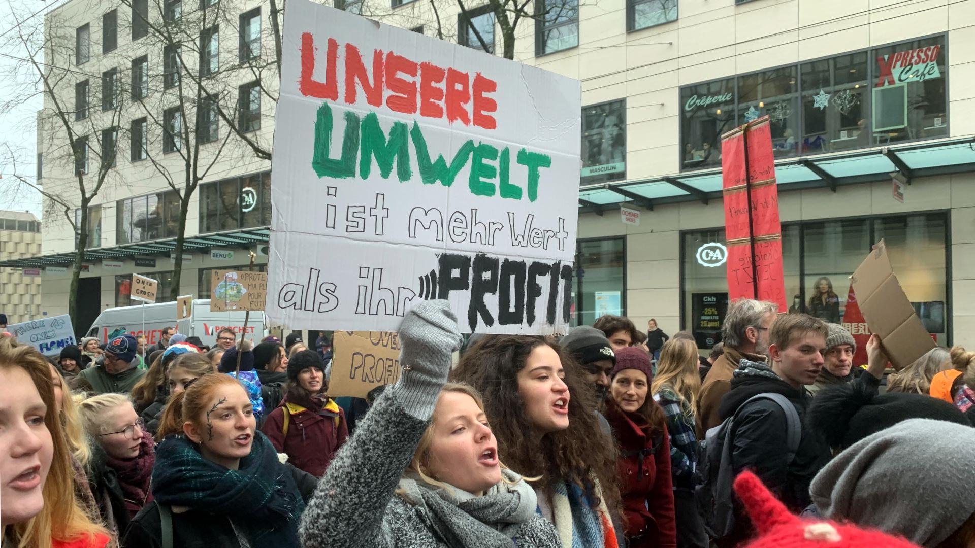 Klimakundgebung in Freiburg, Frühling 2019