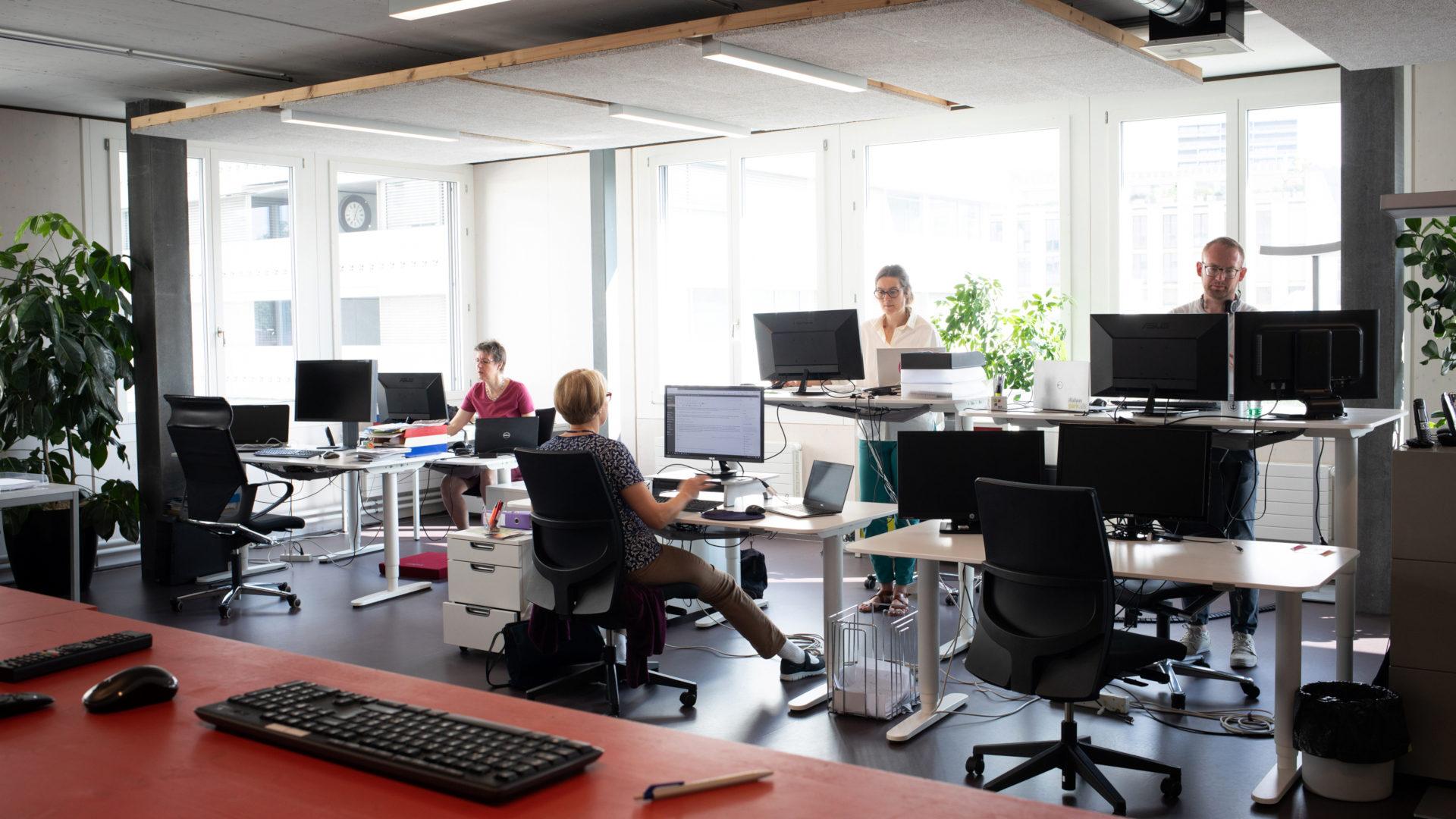 Newsroom der Redaktion kath.ch | © Christoph Wider