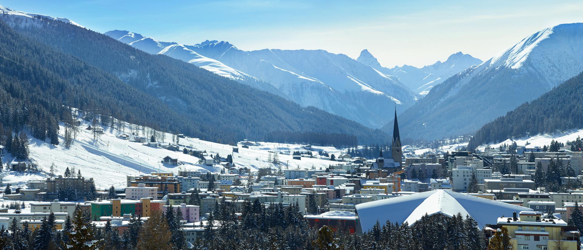 Davos im Winter.