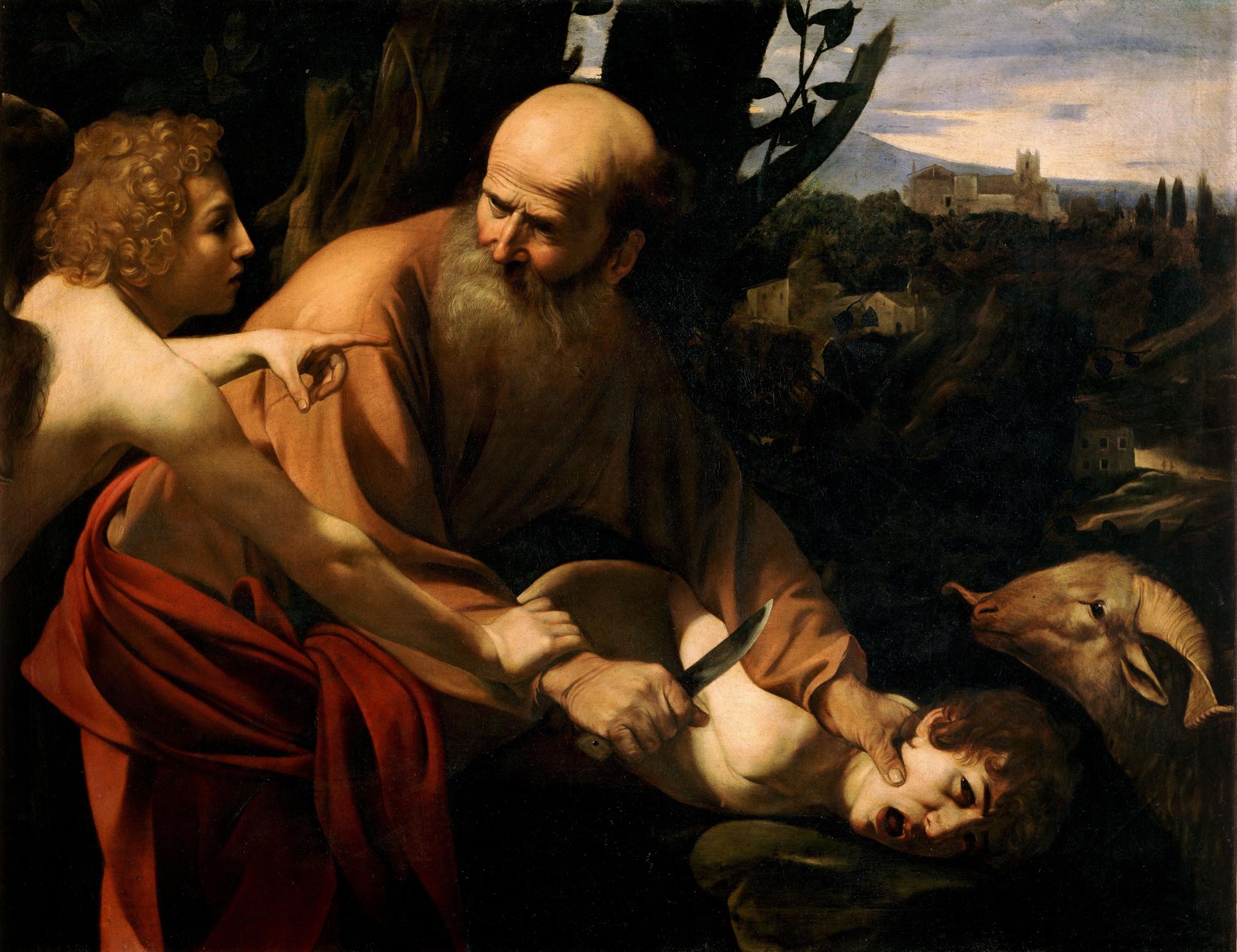 Bindung des Isaak von Caravaggio