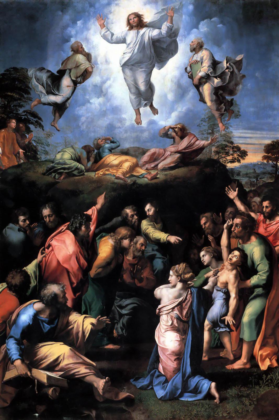 Die Verklärung des Herrn, auch Transfiguration gemalt, von Raphael.