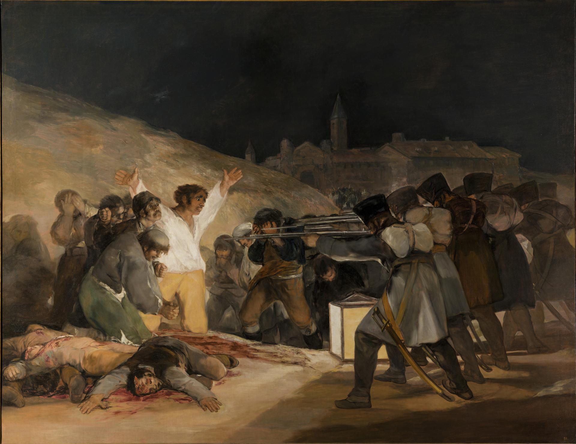 """""""Die Erschiessung der Aufständischen vom 3. Mai 1808"""" von Francisco de Goya"""